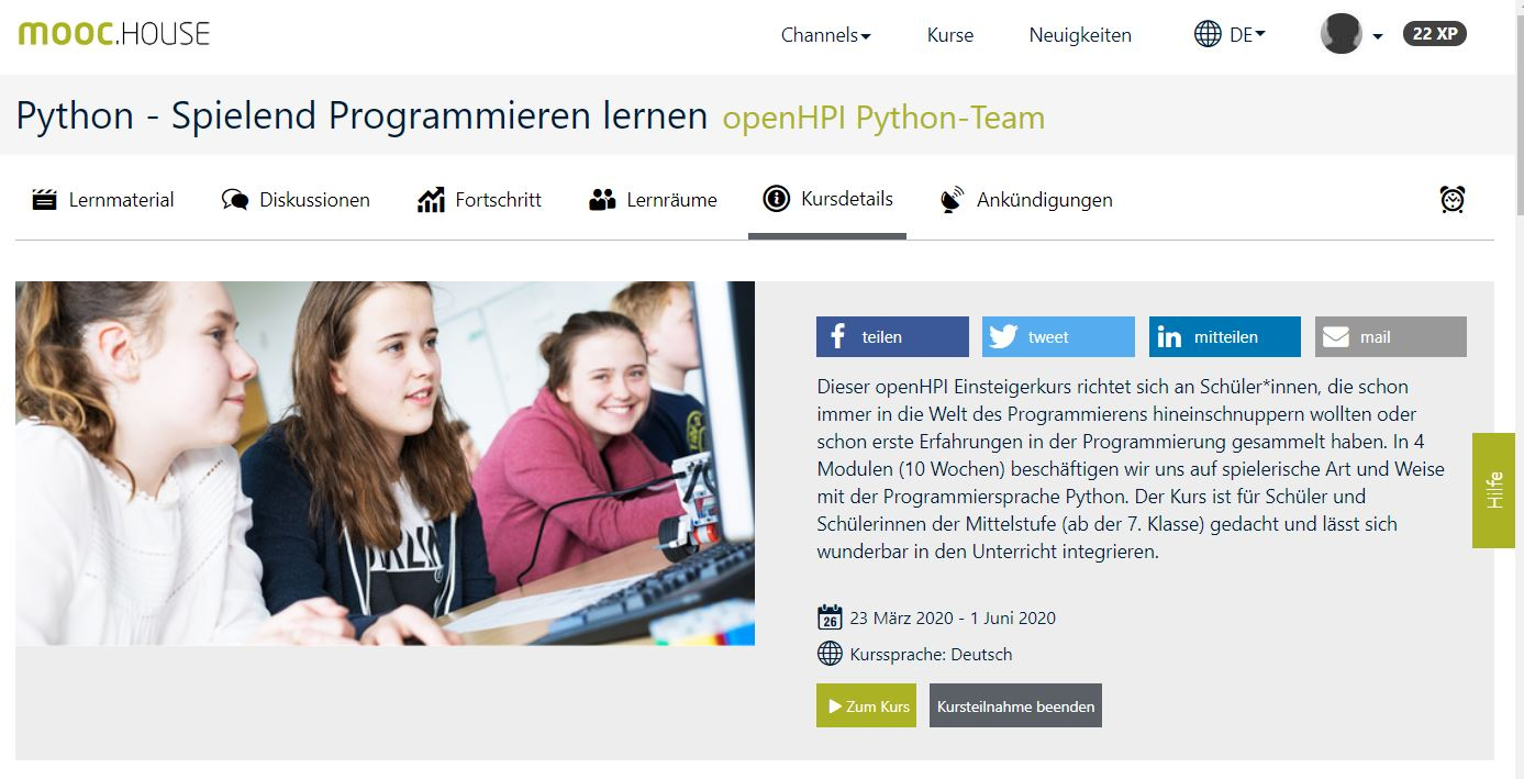 openHPI Python - Schülerkurs
